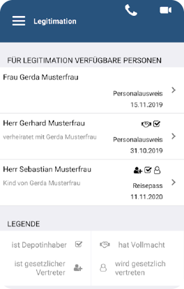 Franco Finanz App Legitimation